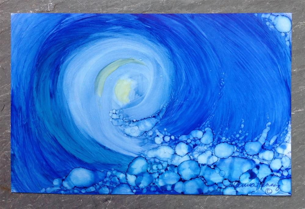 """The Curl"" original fine art by Anna Penny"
