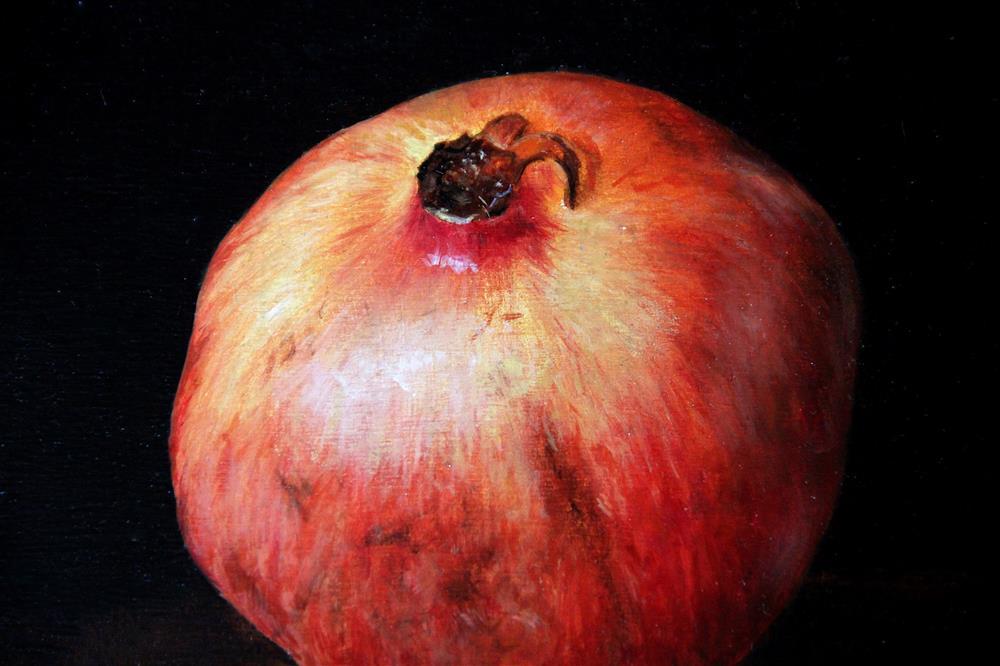 """Pomegranate oil painting"" original fine art by Bozena Janska"