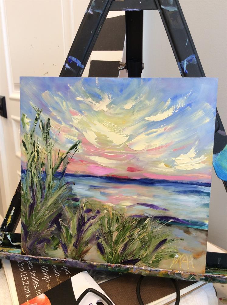 """Dune Sunset"" original fine art by Molly Rohrscheib Hathaway"