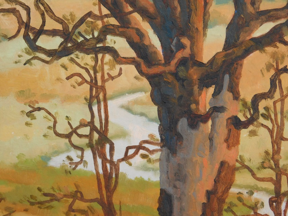 """Spring Oak"" original fine art by Les Dorscheid"