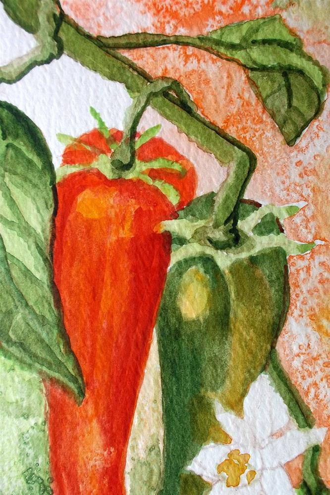 """Garden Peppers"" original fine art by lynne french"