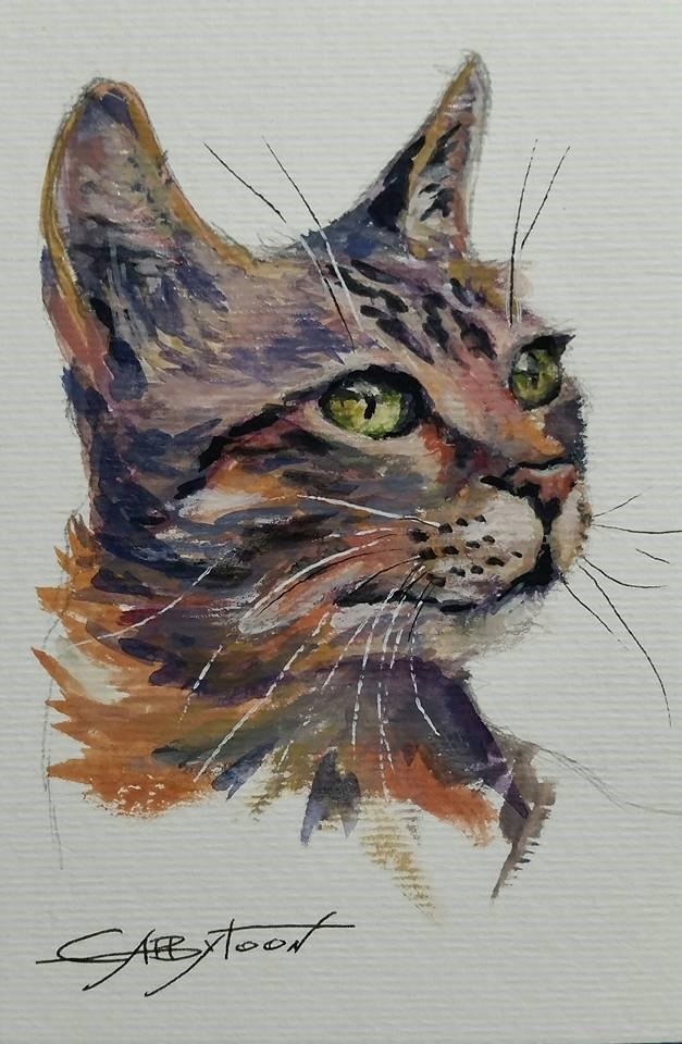 """Kitty"" original fine art by Gabriella DeLamater"