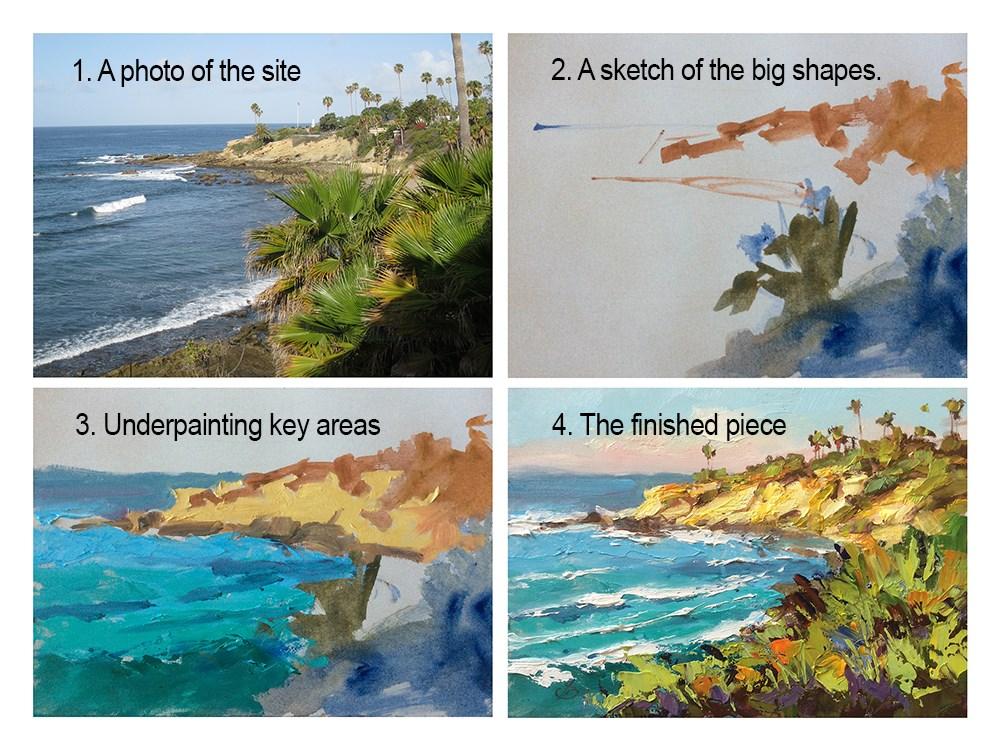 """""""LAGUNA BEACH PLEIN AIR"""" original fine art by Tom Brown"""