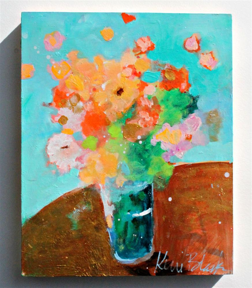 """Orange Flowers "" original fine art by Kerri Blackman"