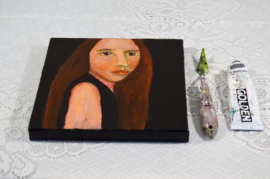 """""""Super Model"""" original fine art by Katie Jeanne Wood"""