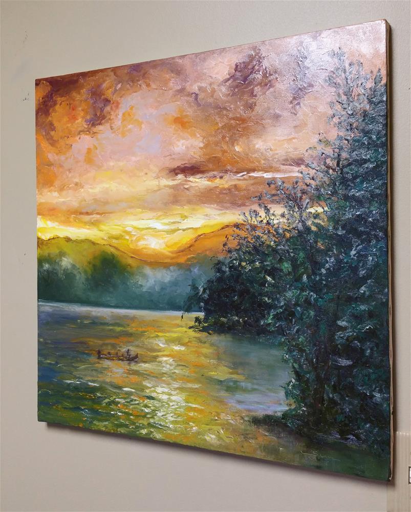"""""""Lake Glenville"""" original fine art by Sun Sohovich"""