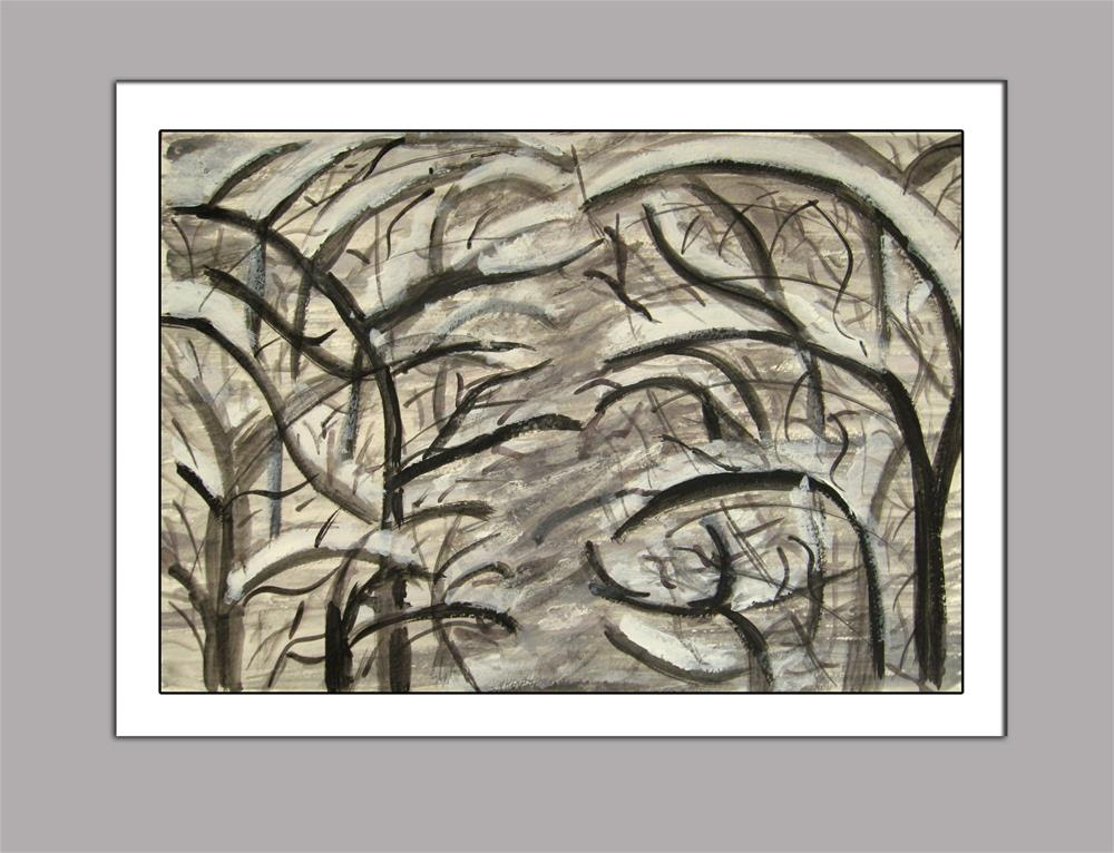 """Snowy Branches"" original fine art by Alina Frent"