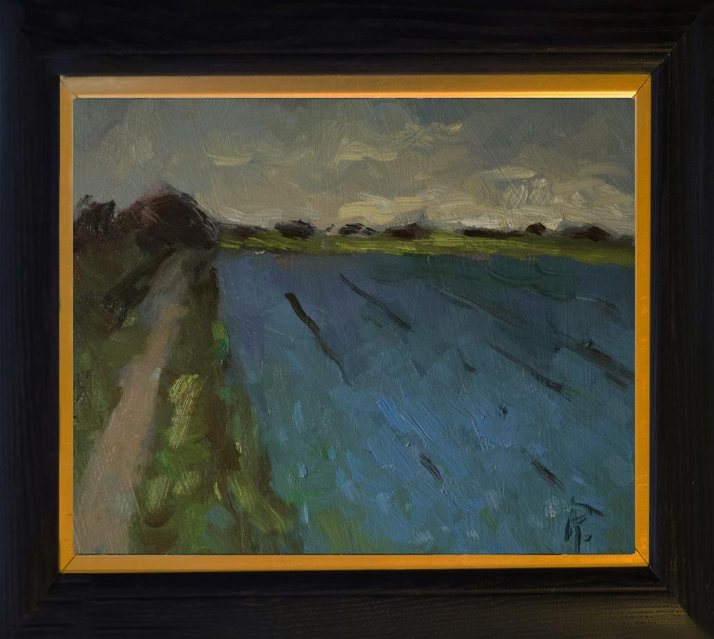 """'Blue Field'"" original fine art by Andre Pallat"