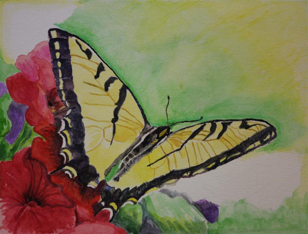 """Swallowtail Butterfly"" original fine art by Terri-Anne Barge"