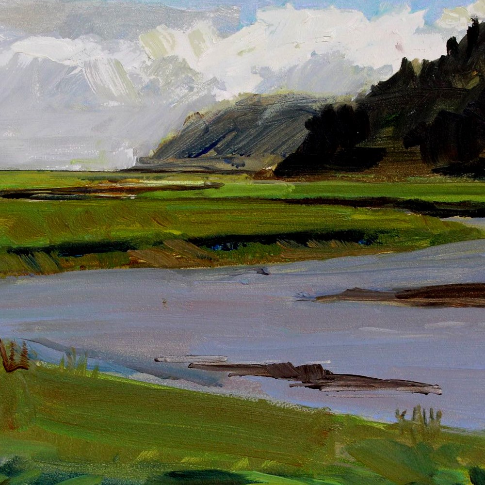 """Copalis River"" original fine art by Gretchen Hancock"