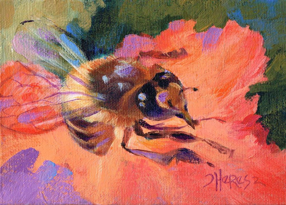"""What's the Buzz?"" original fine art by Theresa Taylor Bayer"