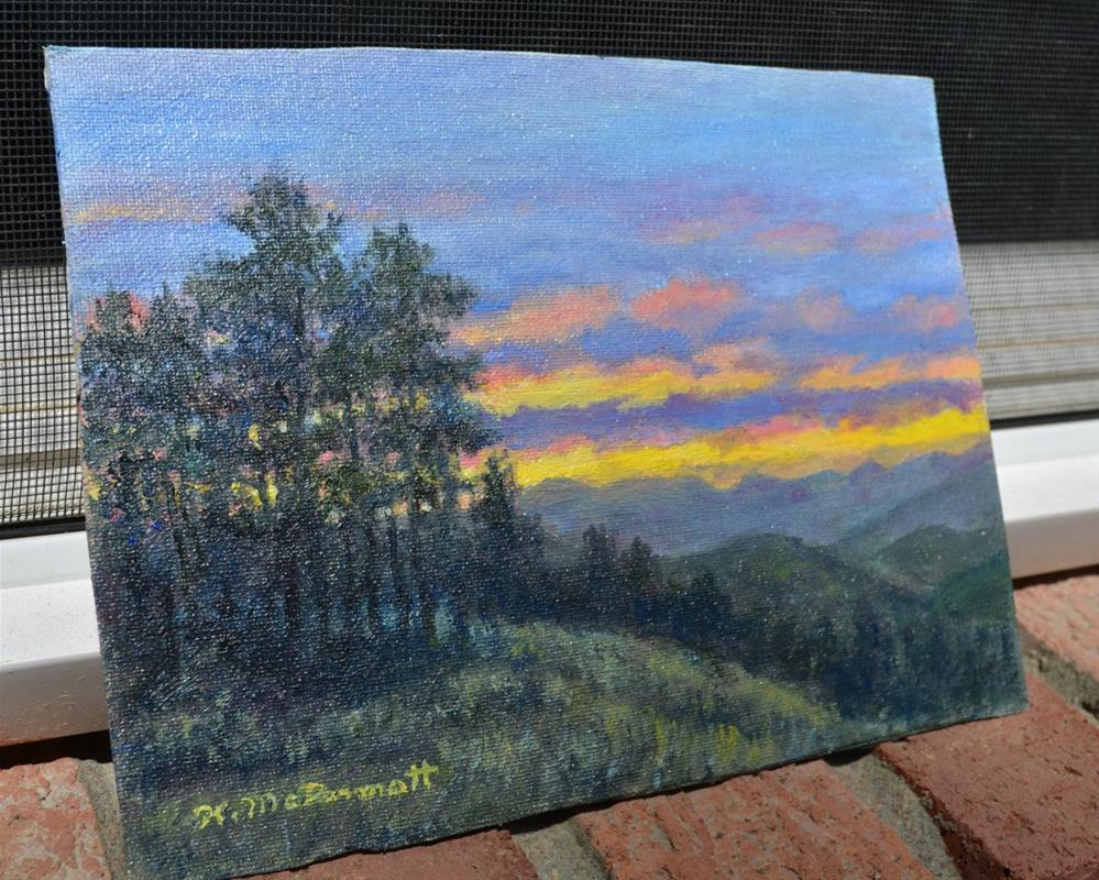 """Mountain Dusk"" original fine art by Kathleen McDermott"