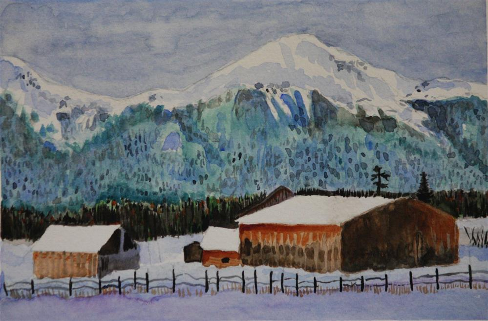 """First Snow in the Valley"" original fine art by Terri-Anne Barge"