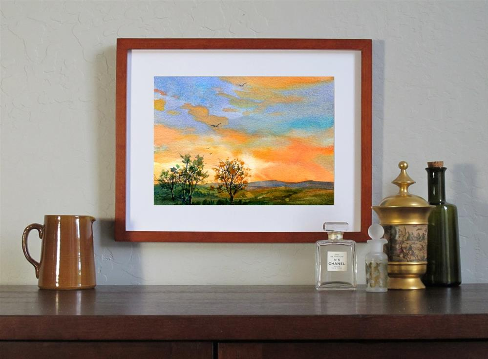 """A New Day Dawns"" original fine art by Linda Henry"