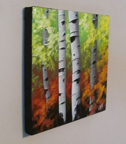 """Birch Quartet"" original fine art by ~ces~ Christine E. S. Code"