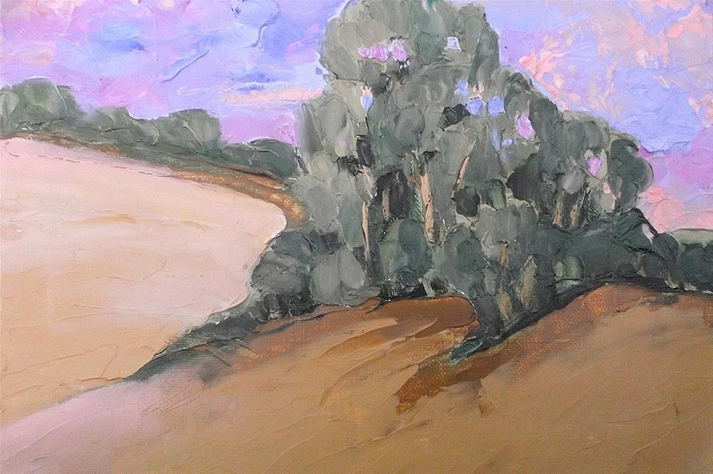 """Paso Robles Hills & Eucalyptus"" original fine art by lynne french"