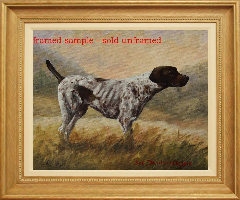 """""""German Shorthaired Pointer"""" original fine art by Sue Deutscher"""