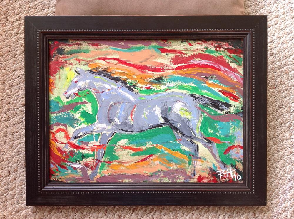 """Running Free"" original fine art by Rachel  Holland"