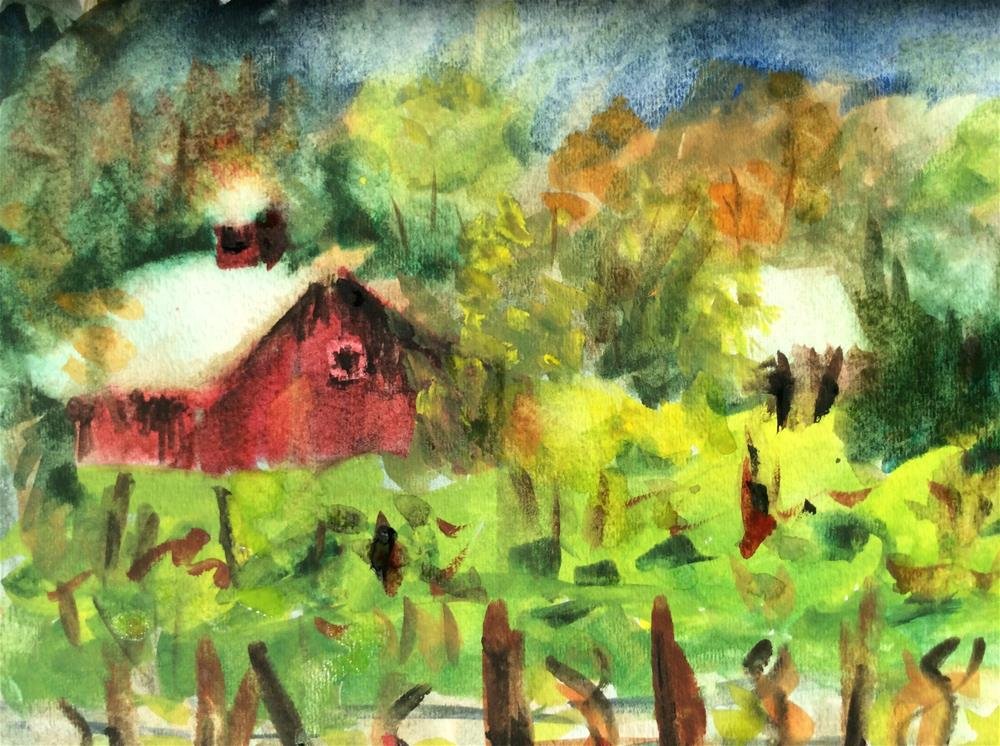 """Saginaw Vineyard"" original fine art by Molly Rohrscheib Hathaway"