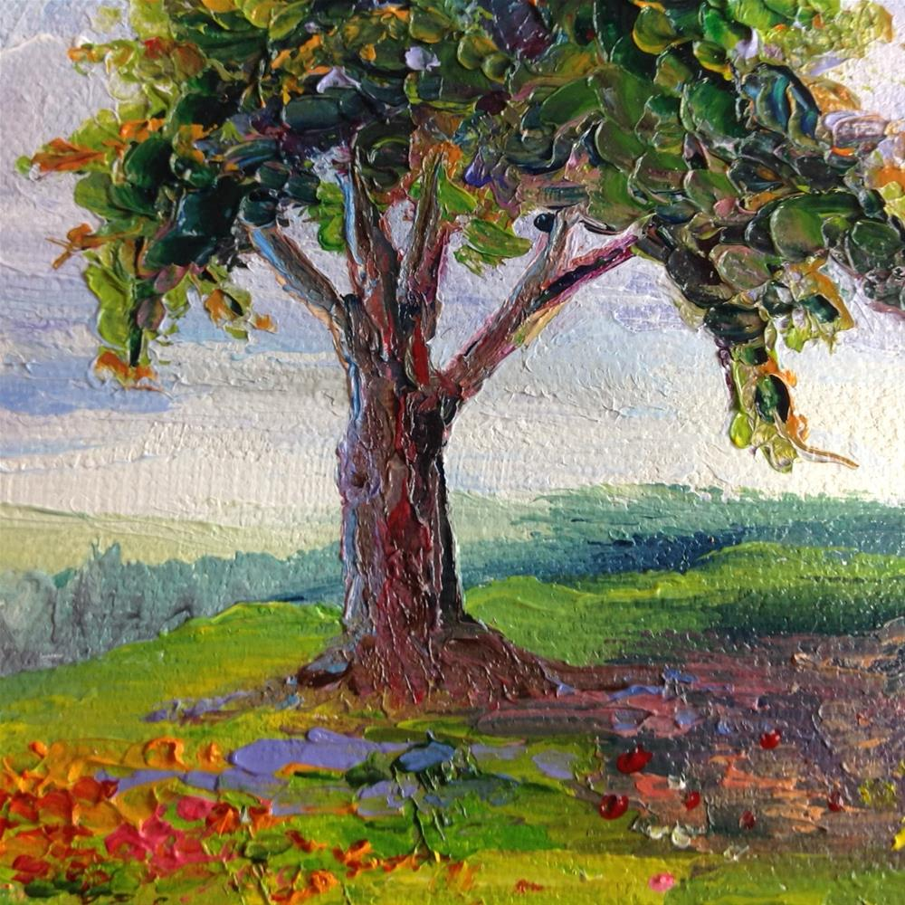 """The Mighty Oak Tree"" original fine art by Rose Brenner"