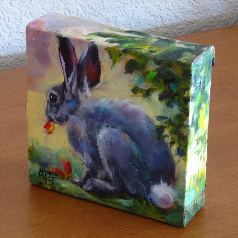 """Cottontail"" original fine art by Mary  Van Deman"