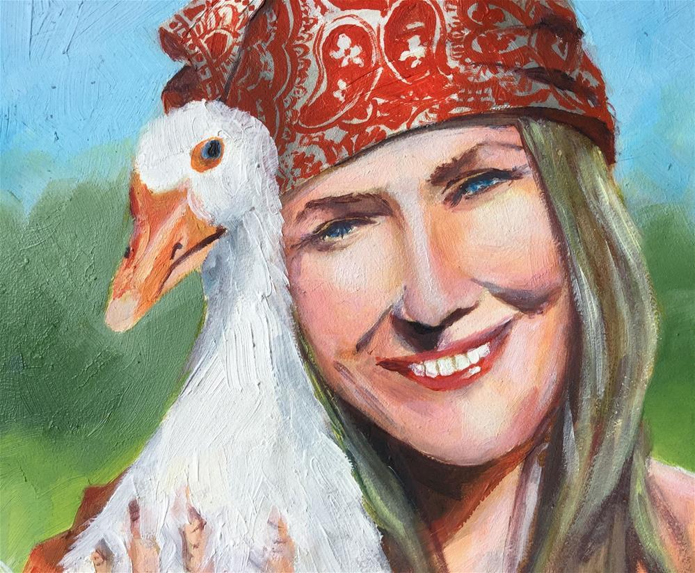 """Goose girl "" original fine art by Hui (Hue) Li"