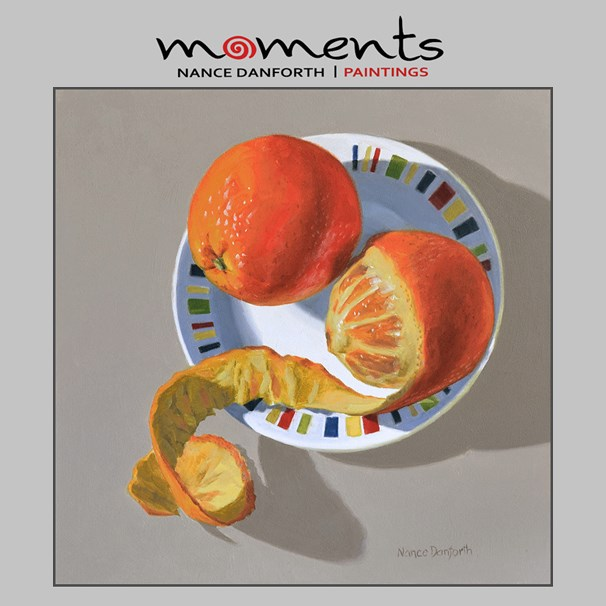 """Two Oranges"" original fine art by Nance Danforth"