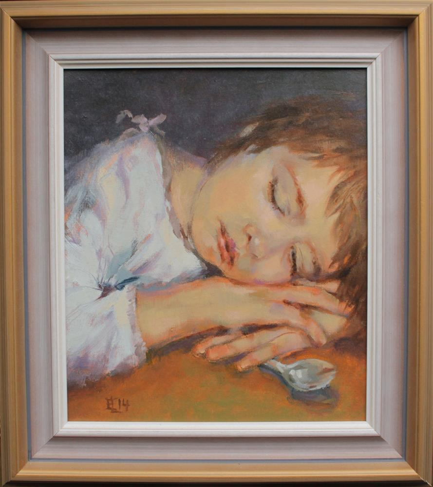 """Sleepy In the Morning"" original fine art by Emilia Leinonen"