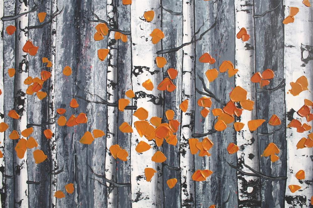 """Quiet Autumn Woods"" original fine art by Sage Mountain"