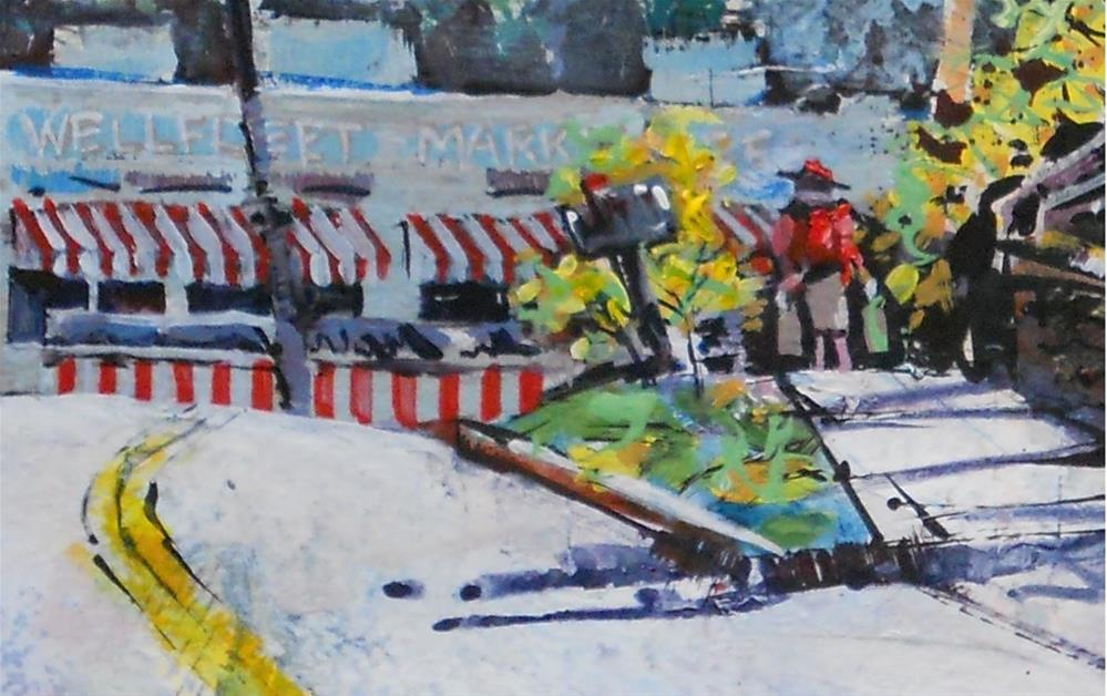 """Wellfleet Marketplace by Larry Lerew 131102"" original fine art by Larry Lerew"