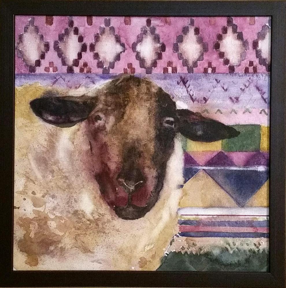 """""""Sheepish"""" original fine art by De Selby"""