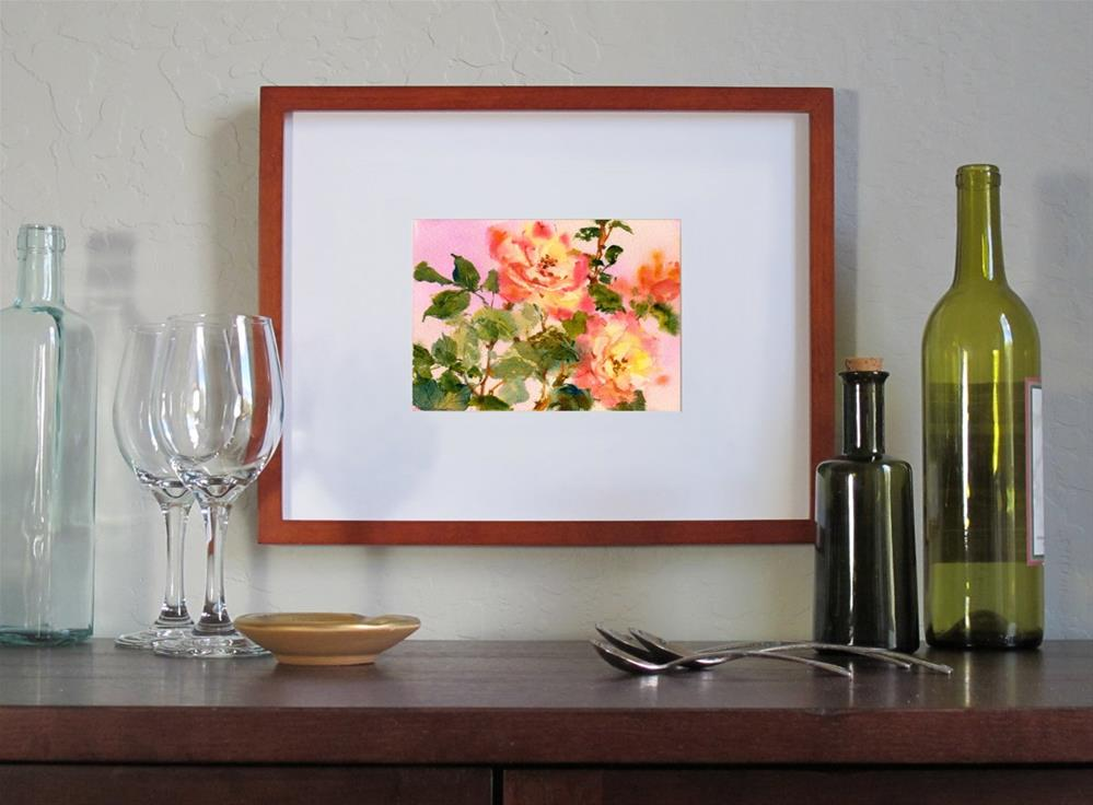 """Rosa Peace"" original fine art by Linda Henry"
