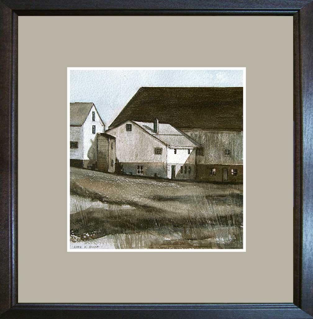 """West Road Barns"" original fine art by Kara K. Bigda"