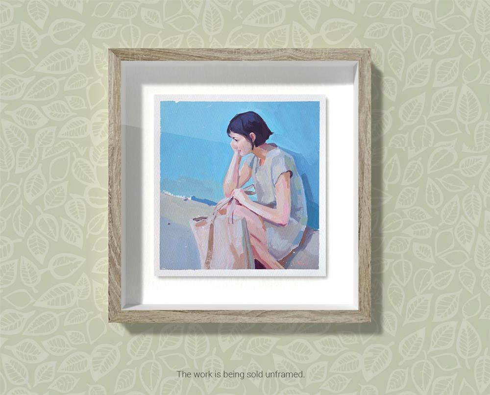 """Silent Contemplation"" original fine art by Lena  Rivo"