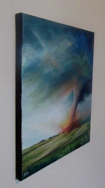 """Plowing Through the Field"" original fine art by ~ces~ Christine E. S. Code"