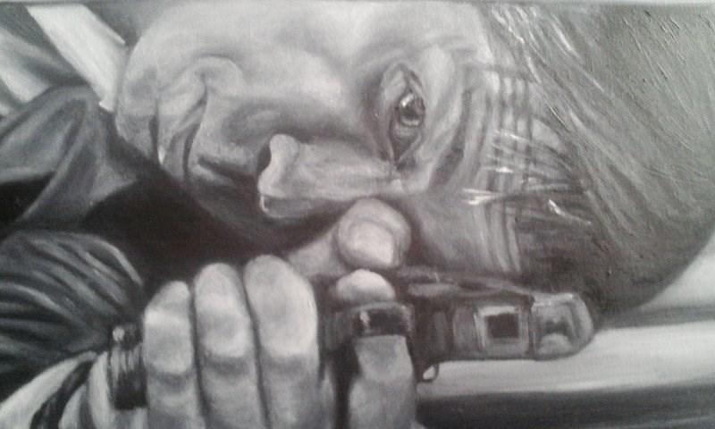 """Mr Reece"" original fine art by Camille Morgan"