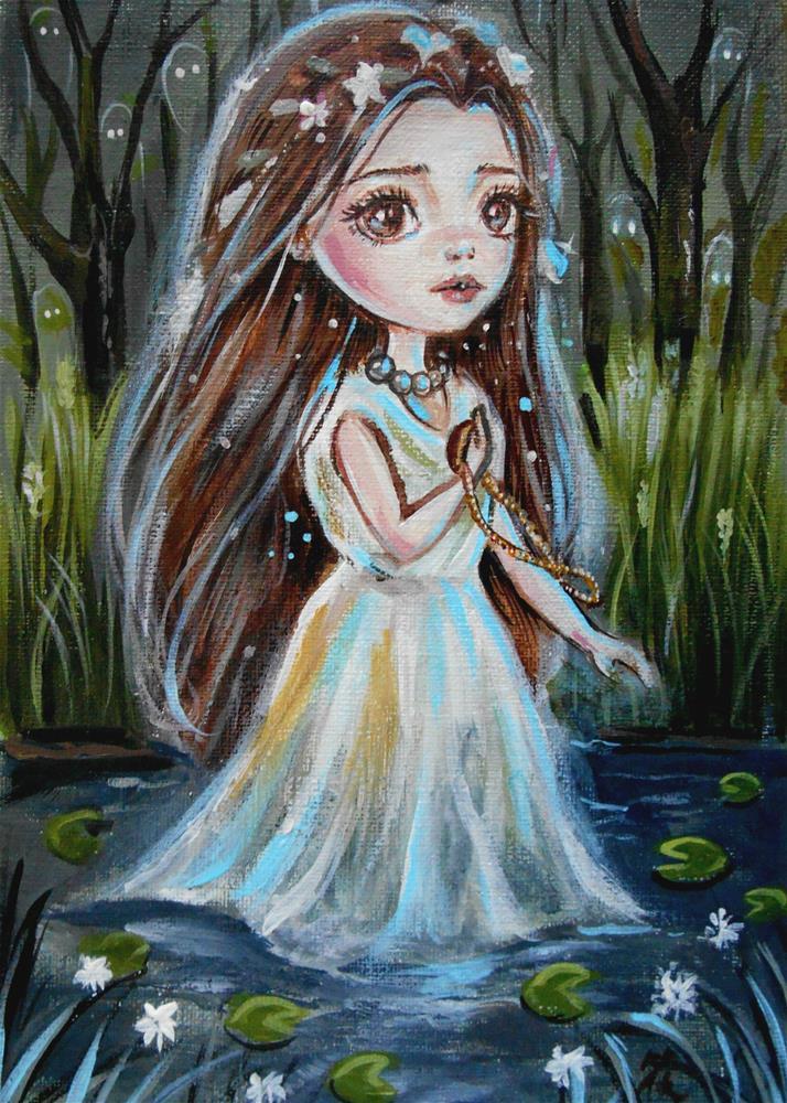 """Ghost of Ophelia"" original fine art by Nicole Chen"