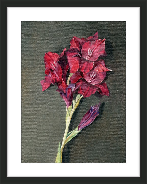 """Purple Gladiolus Blooms"" original fine art by Ester Wilson"