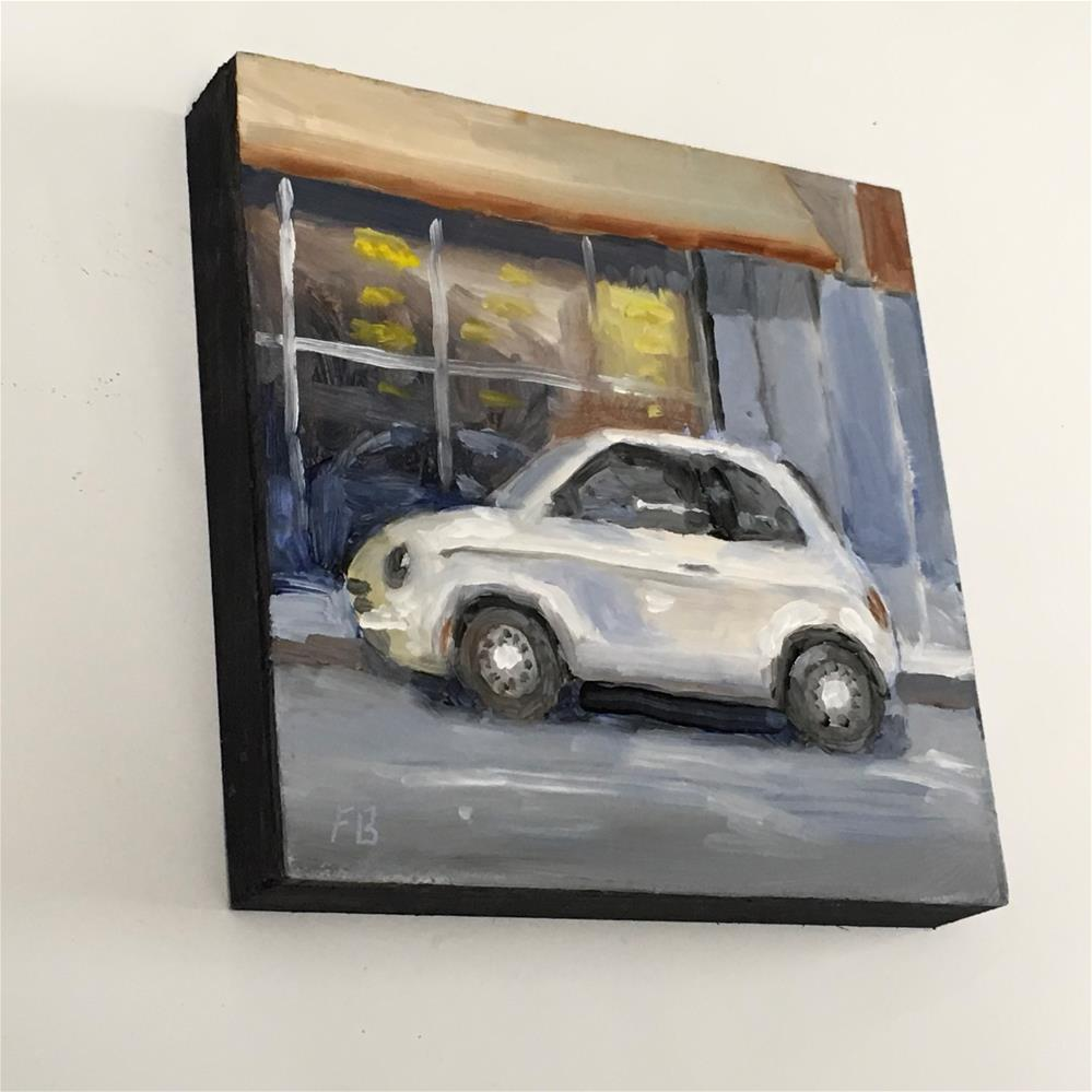 """107 Parked Fiat"" original fine art by Fred Bell"