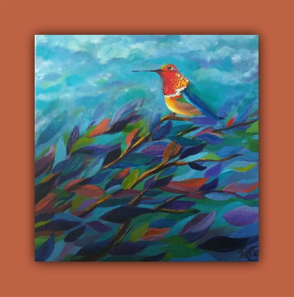 """Hummingbird Perch"" original fine art by Dana C"