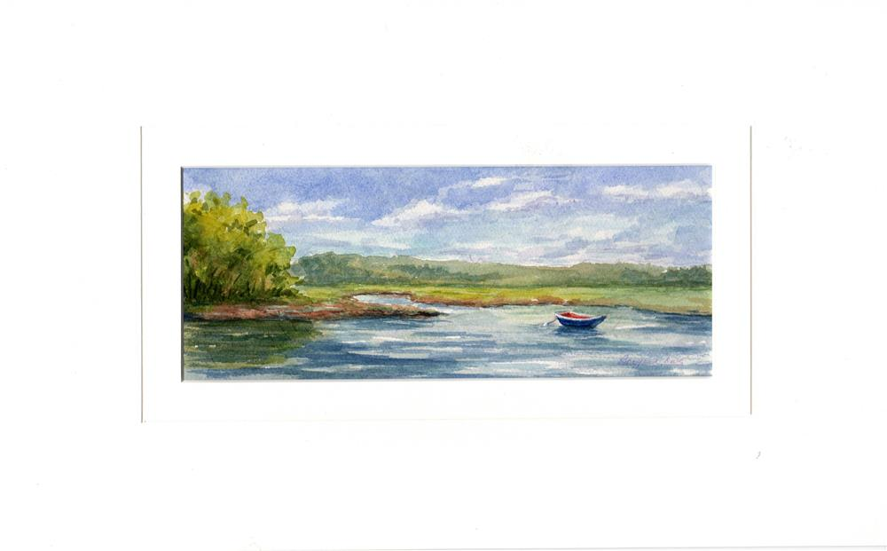 """Cape Cod ~ Blue Rowboat"" original fine art by Vikki Bouffard"