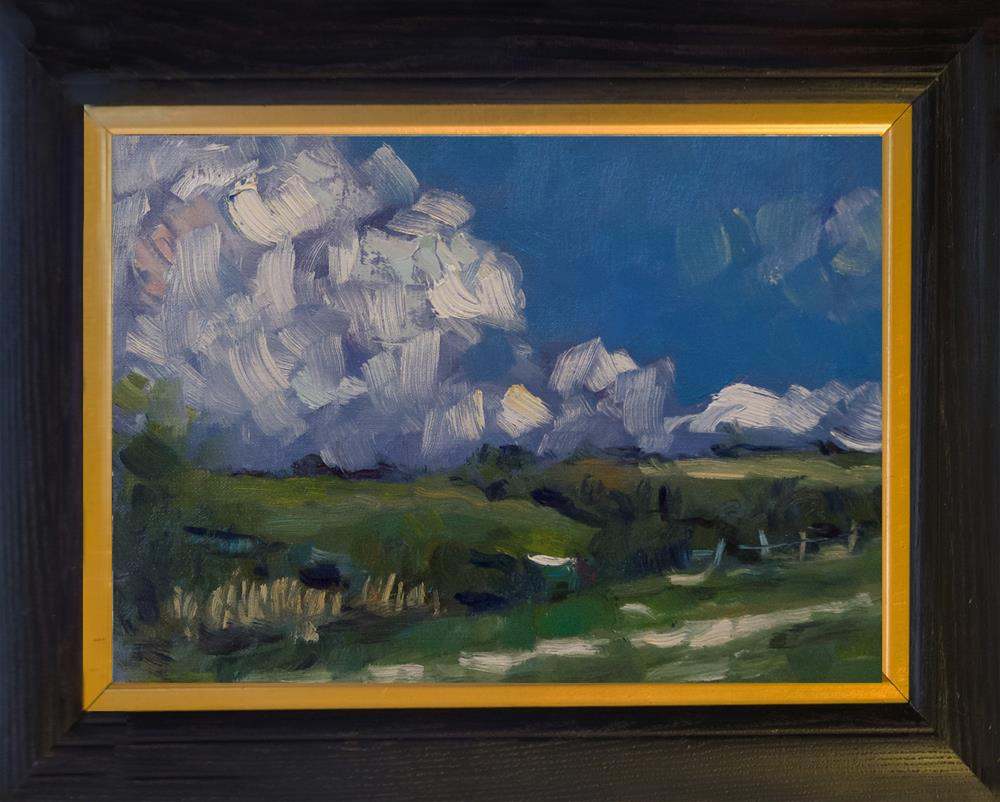 """Clouds over the Downs"" original fine art by Andre Pallat"