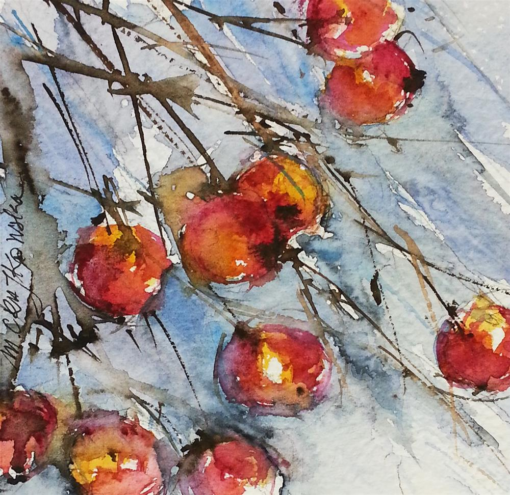 """Paradise Apples 2"" original fine art by Marlena Czajkowska"