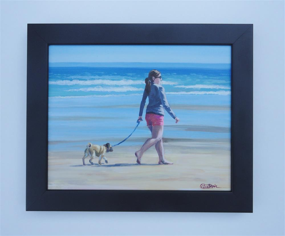 """Dogs on the Beach #7"" original fine art by Christine Blain"