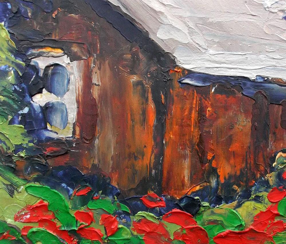"""""""Carmel Valley Barn"""" original fine art by lynne french"""