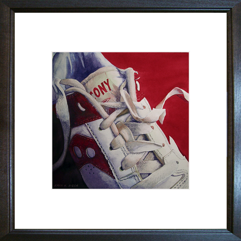 """Kickin' It Old School"" original fine art by Kara K. Bigda"