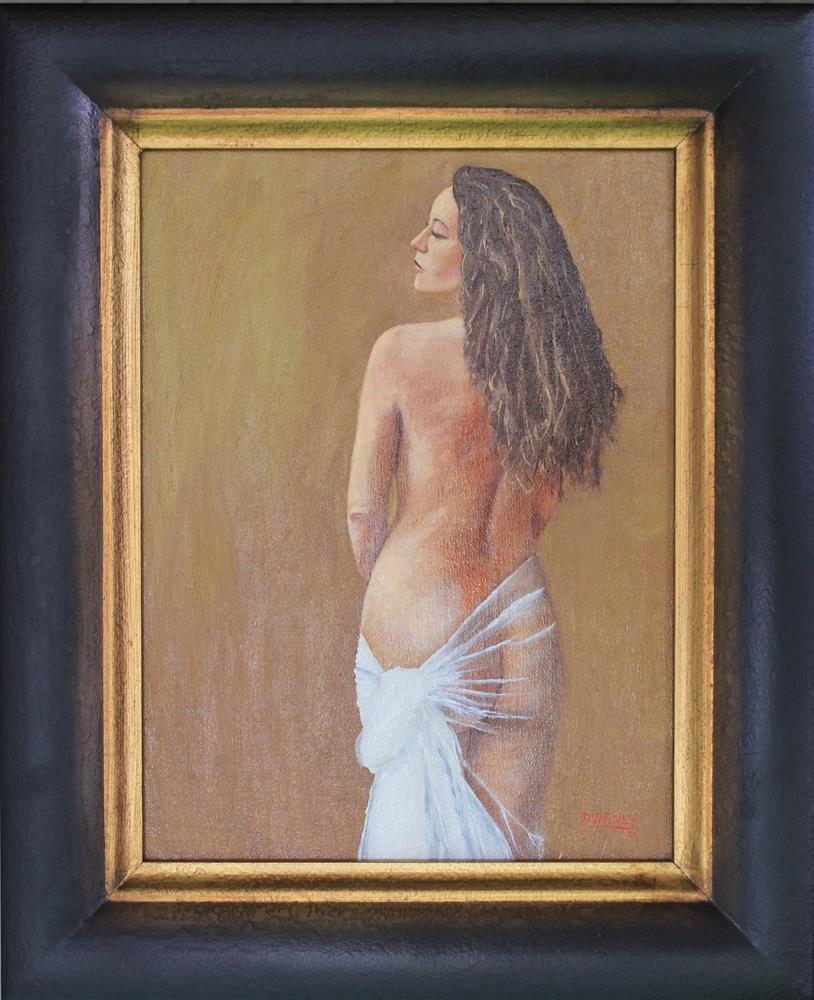 """Draped Nude"" original fine art by Daniel Varney"