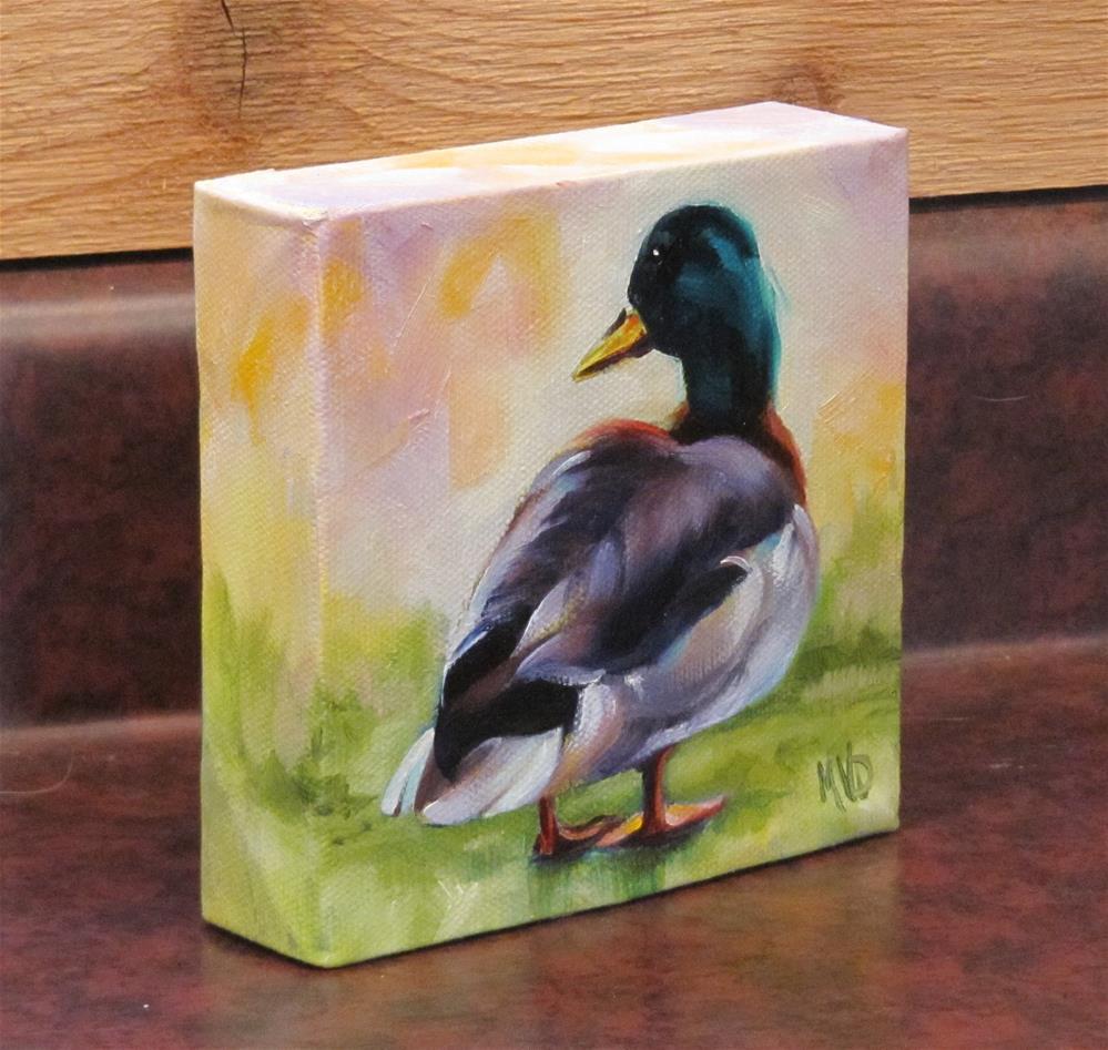 """""""Morning Mallard"""" original fine art by Mary Van Deman"""
