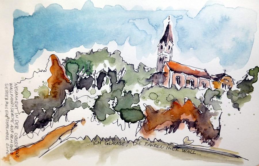 """""""1850 Convent St Josef"""" original fine art by Dietmar Stiller"""