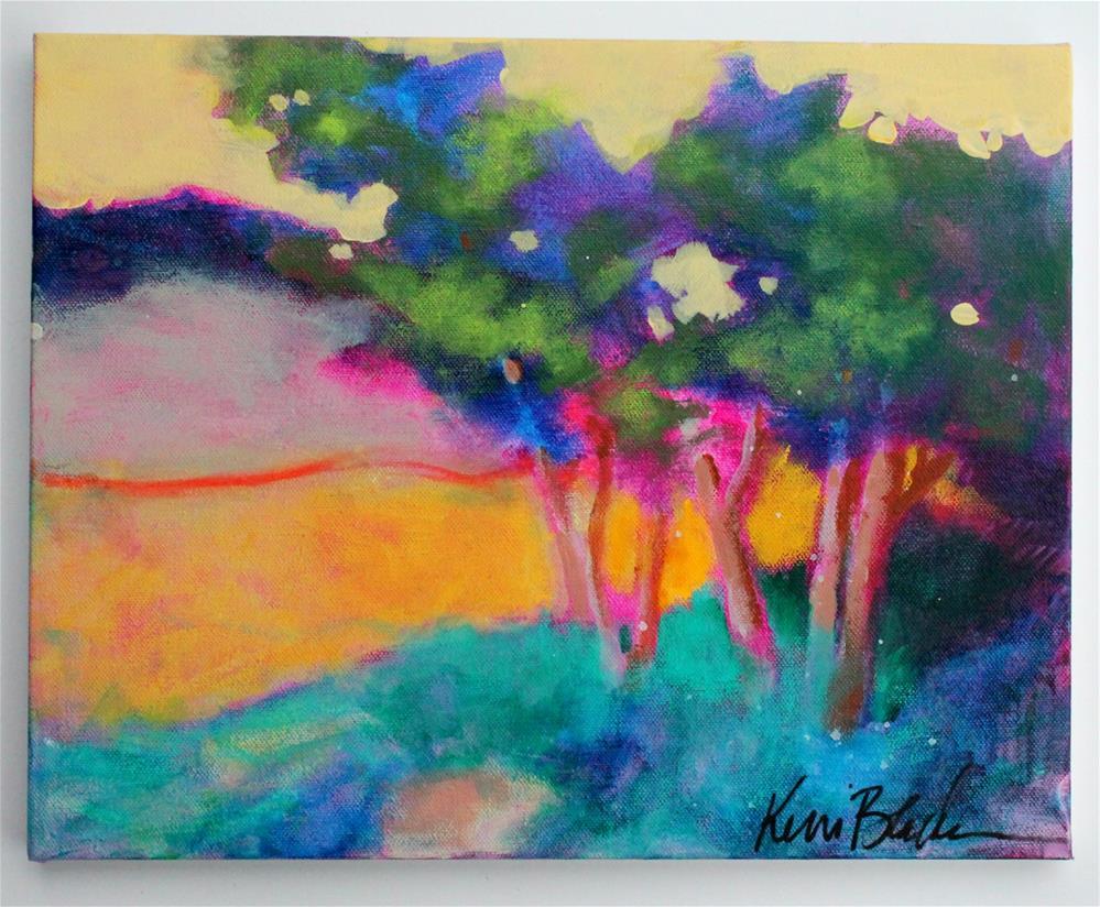 """Wind in the Trees "" original fine art by Kerri Blackman"